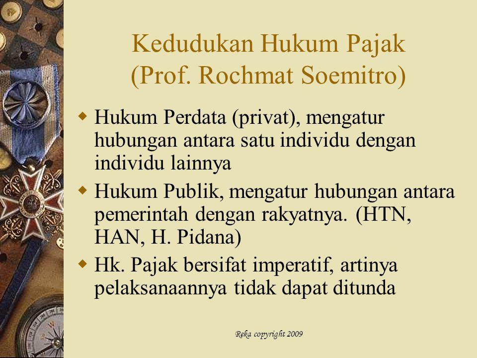 Kedudukan Hukum Pajak (Prof. Rochmat Soemitro)