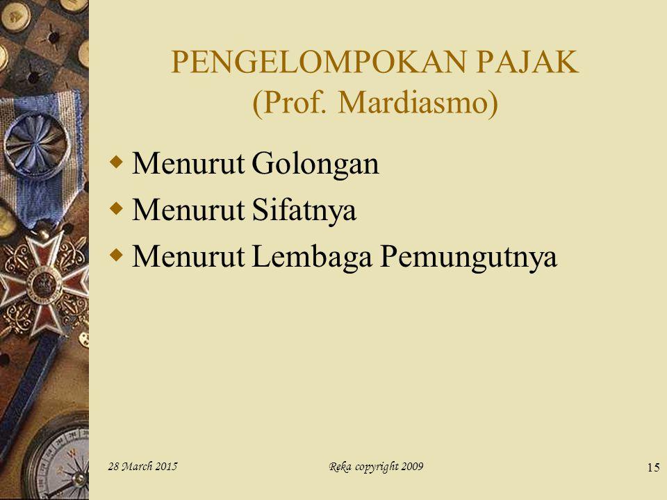 PENGELOMPOKAN PAJAK (Prof. Mardiasmo)