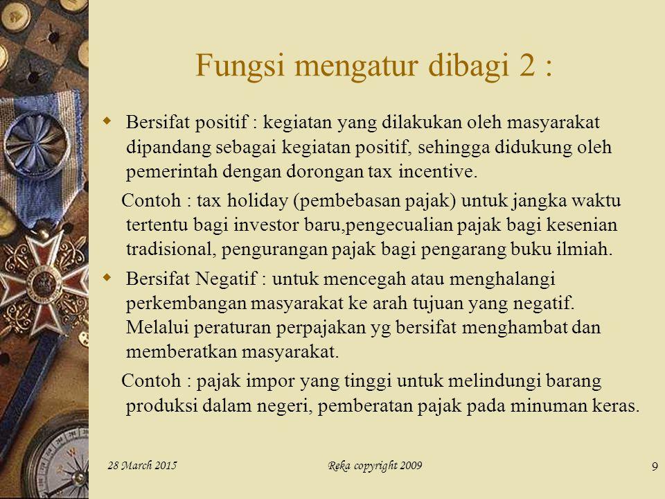 Fungsi mengatur dibagi 2 :