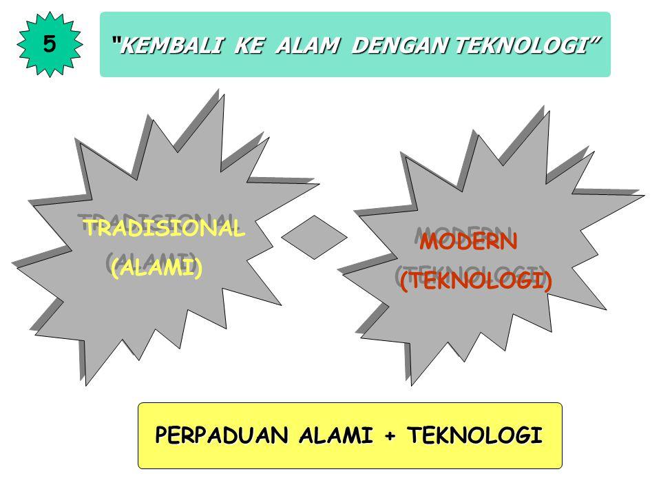 5 KEMBALI KE ALAM DENGAN TEKNOLOGI TRADISIONAL.