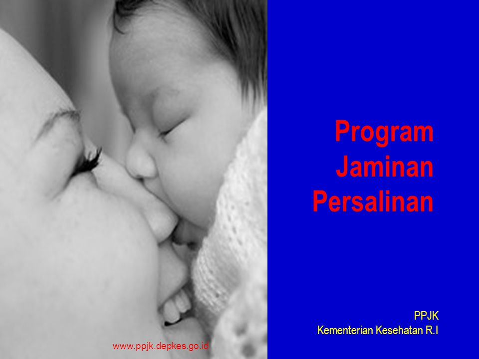 Program Jaminan Persalinan PPJK Kementerian Kesehatan R.I