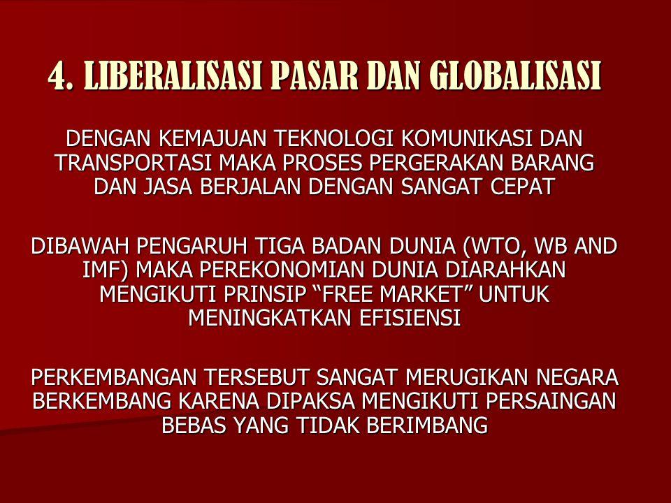 4. LIBERALISASI PASAR DAN GLOBALISASI