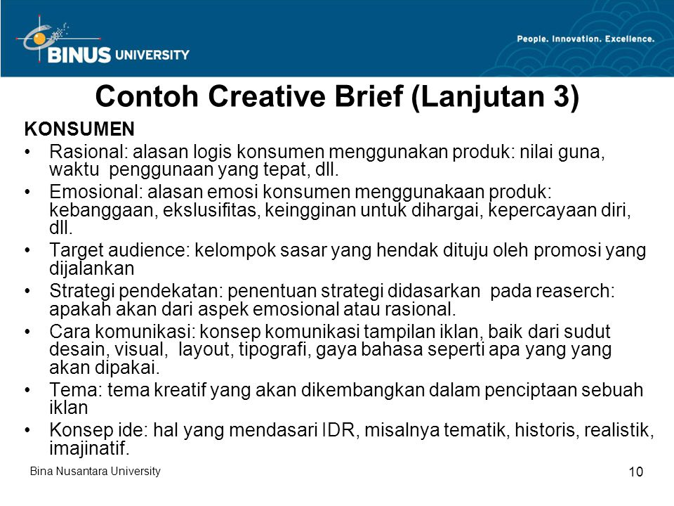 Contoh Creative Brief (Lanjutan 3)
