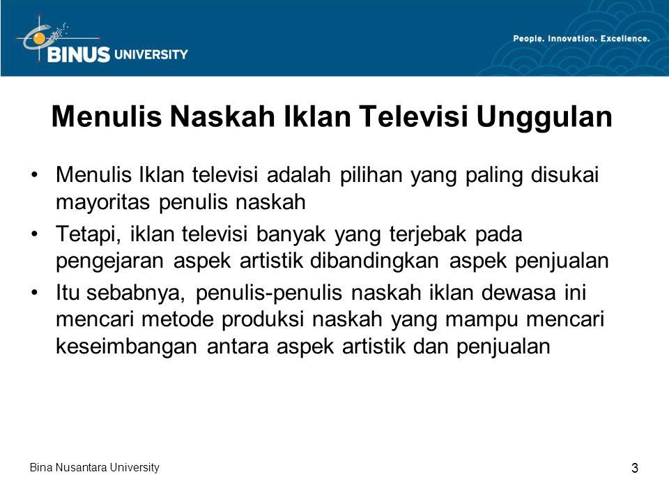Menulis Naskah Iklan Televisi Unggulan