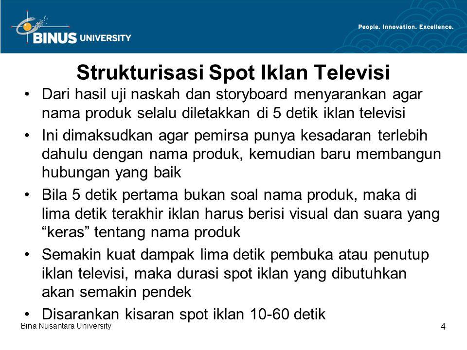 Strukturisasi Spot Iklan Televisi