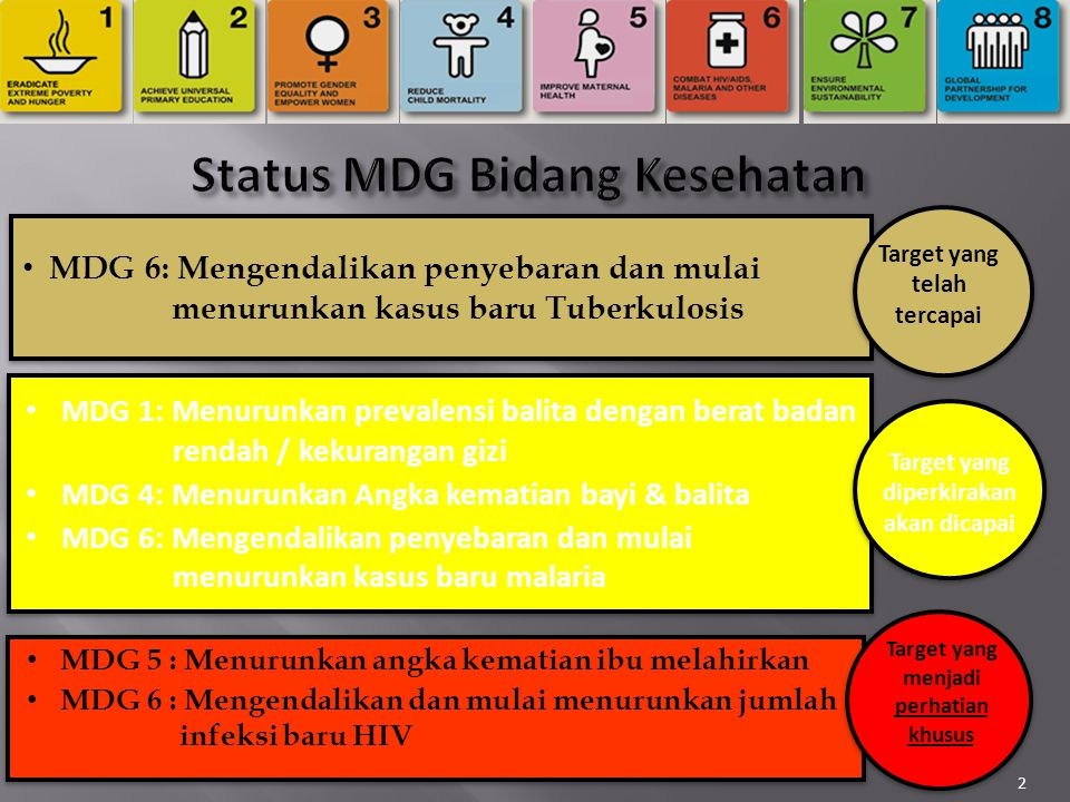 Status MDG Bidang Kesehatan