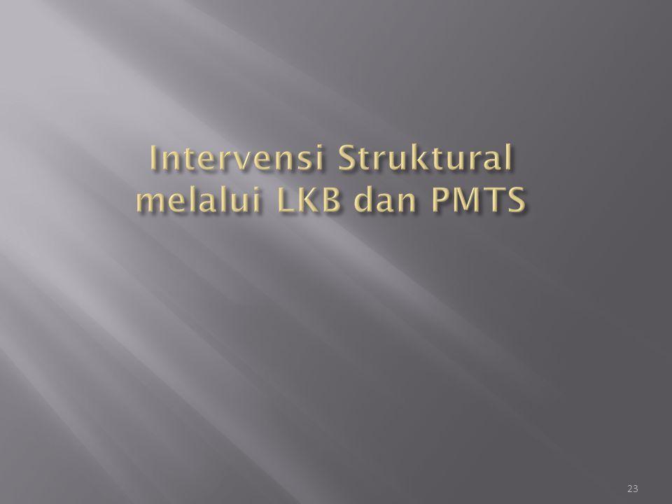 Intervensi Struktural melalui LKB dan PMTS