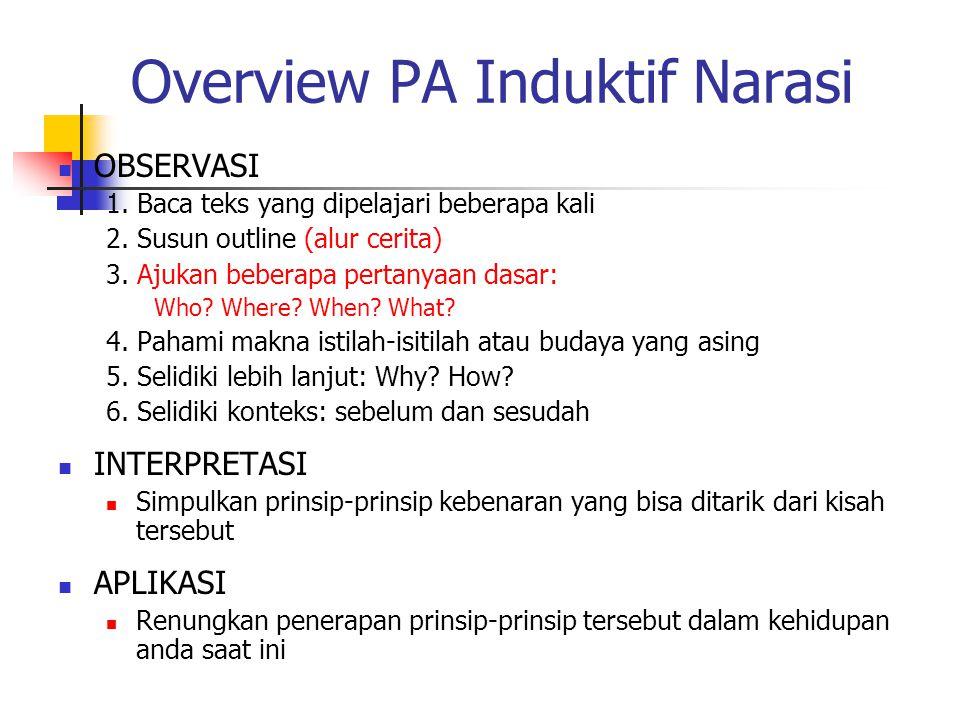 Overview PA Induktif Narasi