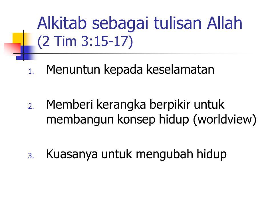 Alkitab sebagai tulisan Allah (2 Tim 3:15-17)