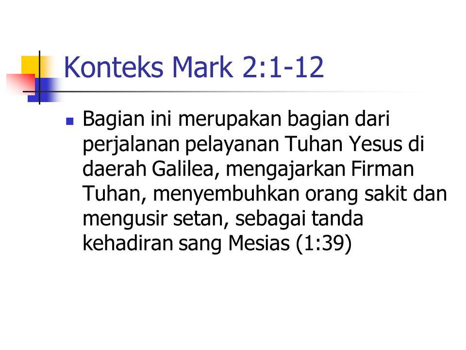 Konteks Mark 2:1-12