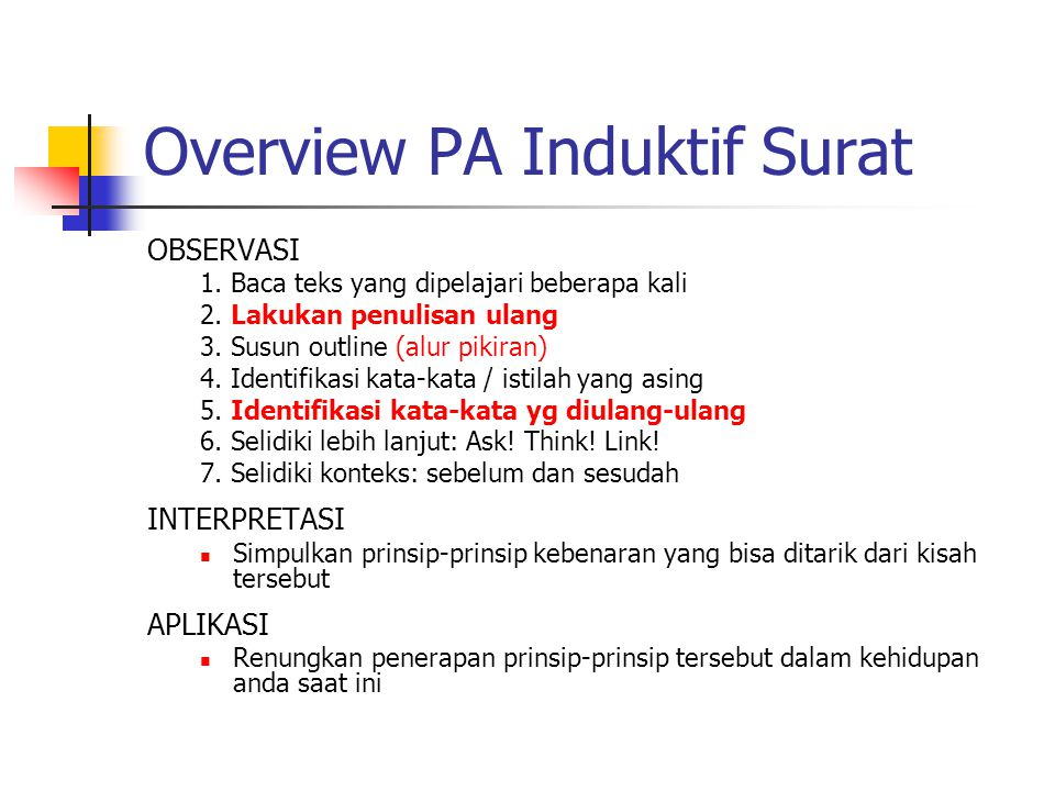 Overview PA Induktif Surat