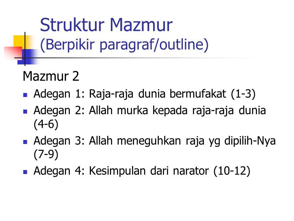 Struktur Mazmur (Berpikir paragraf/outline)