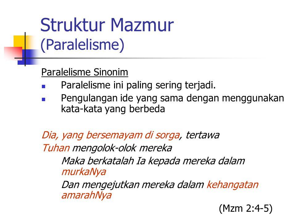 Struktur Mazmur (Paralelisme)