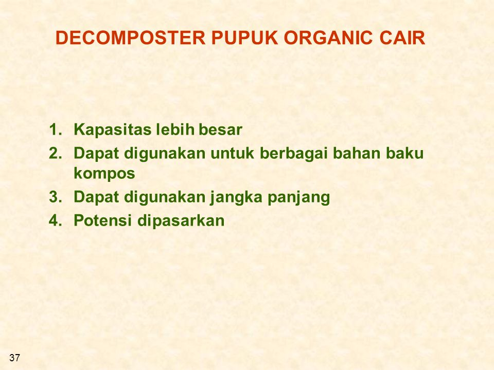 DECOMPOSTER PUPUK ORGANIC CAIR