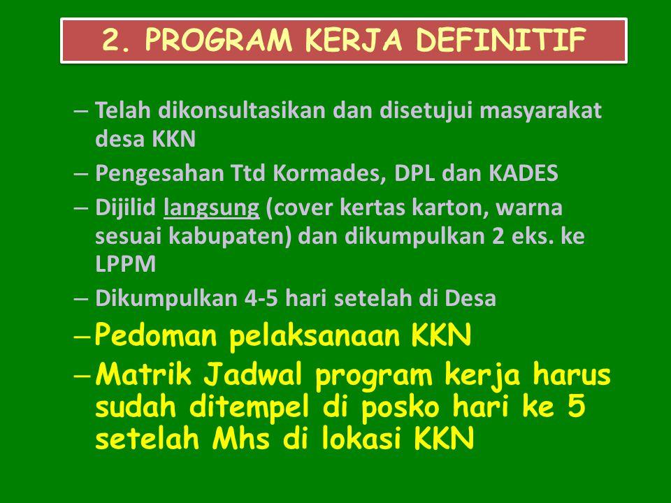 2. PROGRAM KERJA DEFINITIF