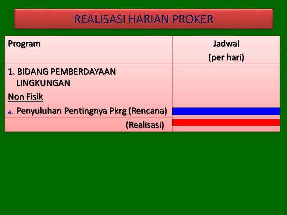REALISASI HARIAN PROKER