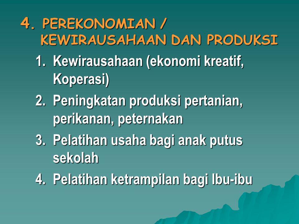 4. PEREKONOMIAN / KEWIRAUSAHAAN DAN PRODUKSI
