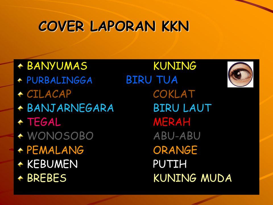 COVER LAPORAN KKN BANYUMAS KUNING CILACAP COKLAT