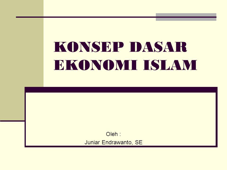 KONSEP DASAR EKONOMI ISLAM