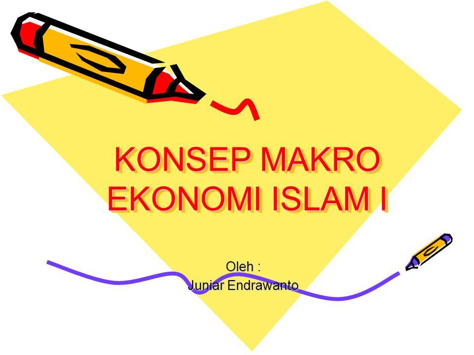 KONSEP MAKRO EKONOMI ISLAM I