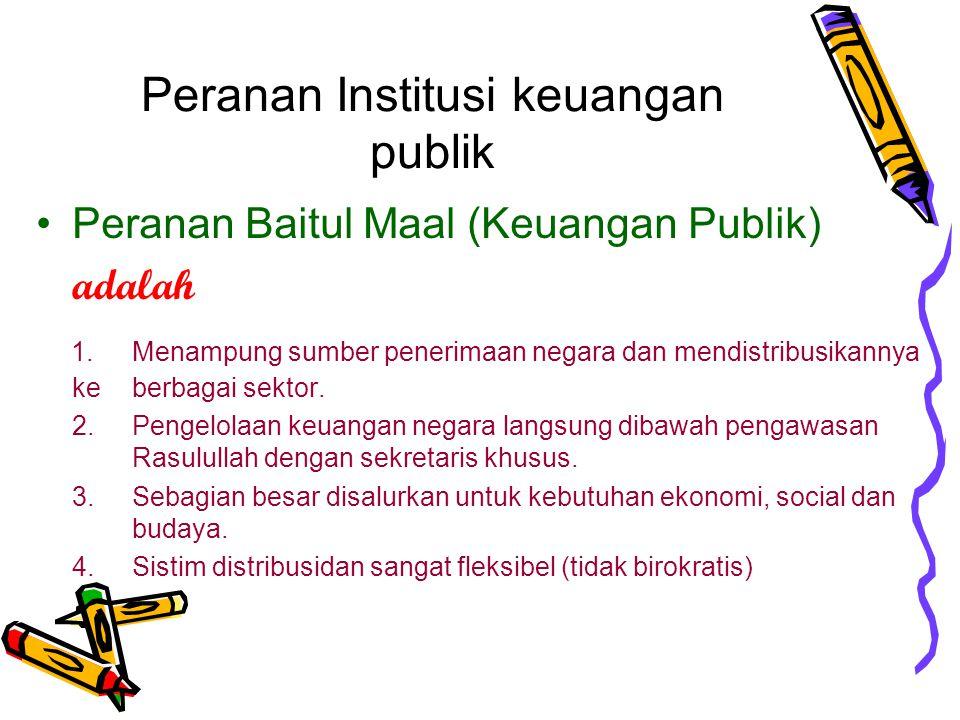 Peranan Institusi keuangan publik