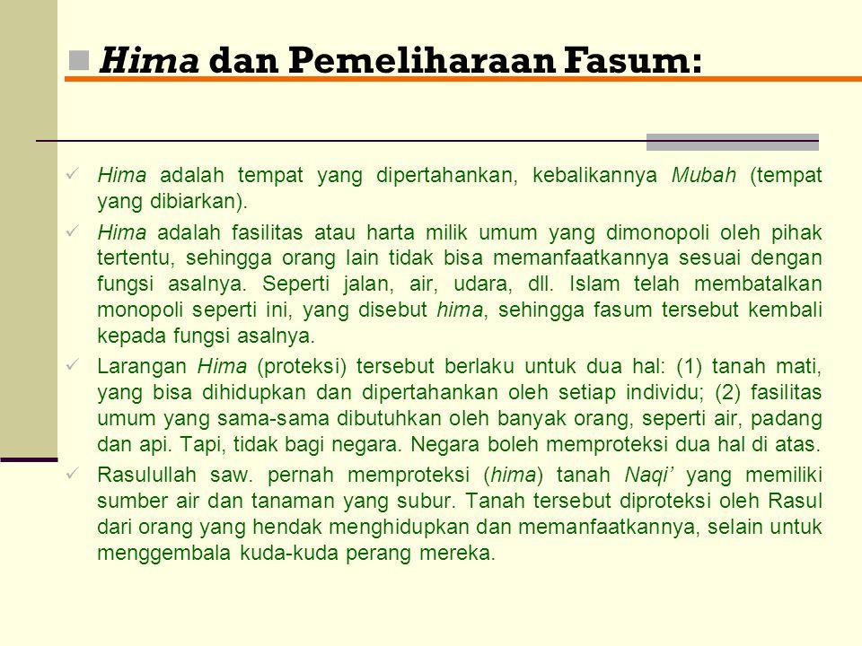 Hima dan Pemeliharaan Fasum: