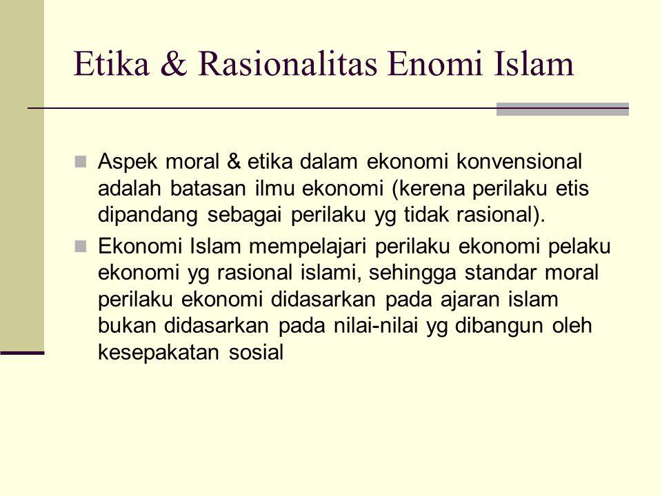 Etika & Rasionalitas Enomi Islam