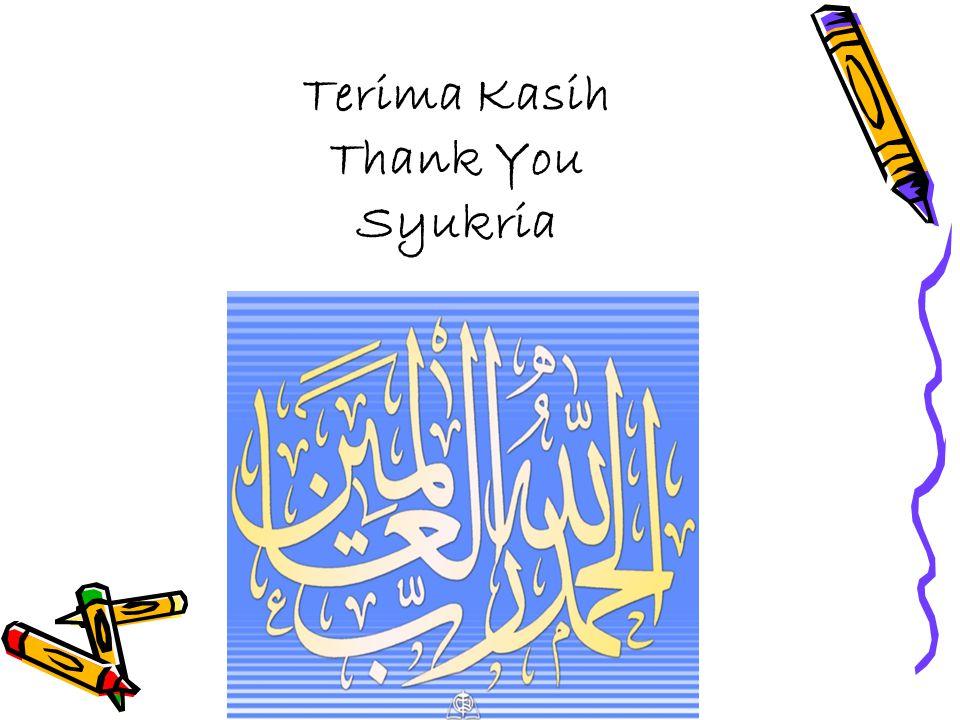 Terima Kasih Thank You Syukria