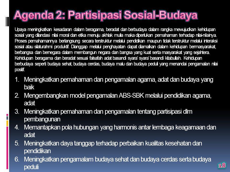 Agenda 2: Partisipasi Sosial-Budaya