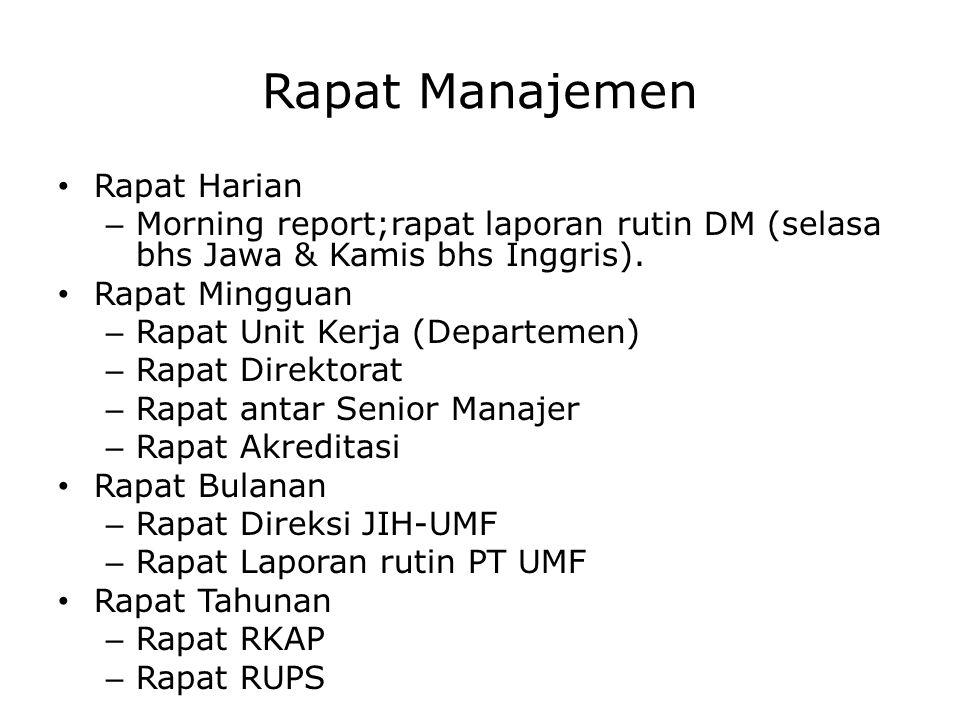 Rapat Manajemen Rapat Harian
