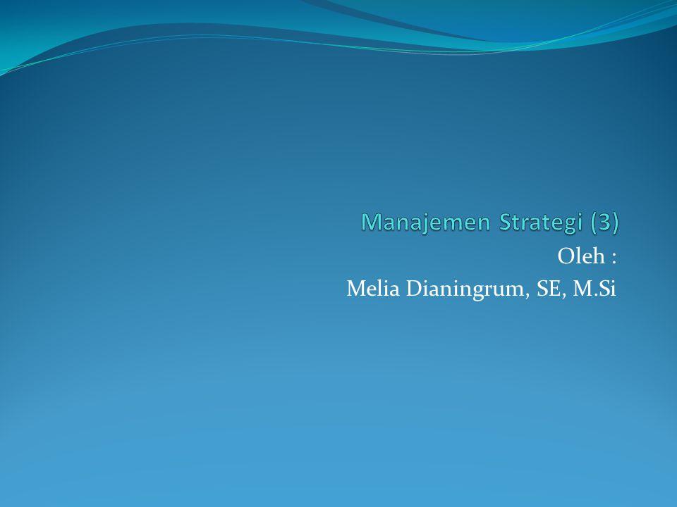 Oleh : Melia Dianingrum, SE, M.Si