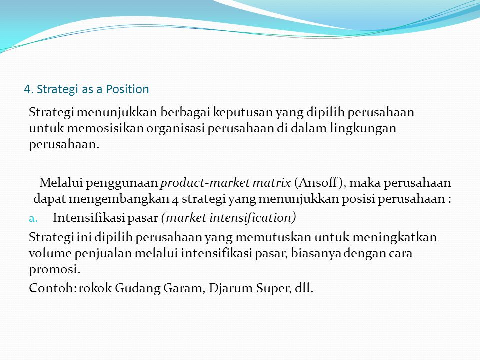 4. Strategi as a Position