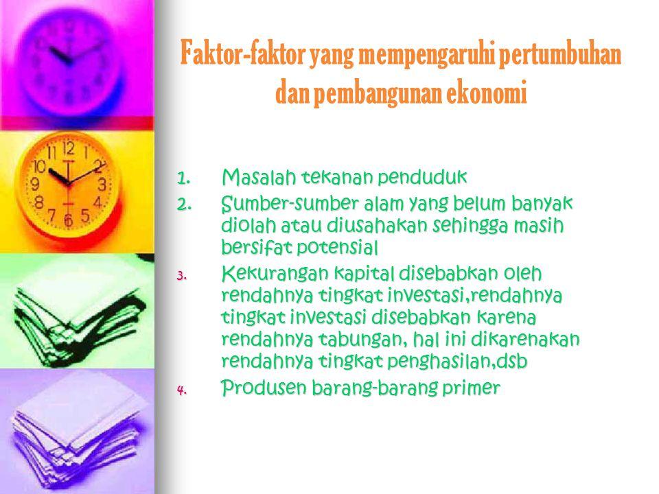 Faktor-faktor yang mempengaruhi pertumbuhan dan pembangunan ekonomi