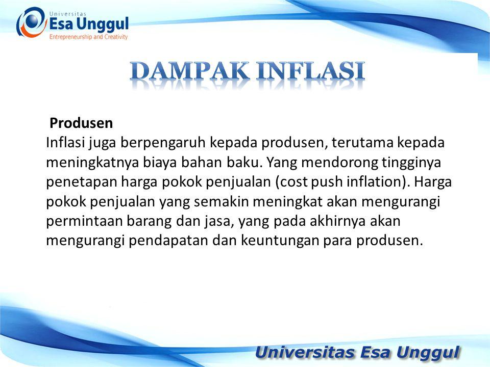 DAMPAK INFLASI Produsen