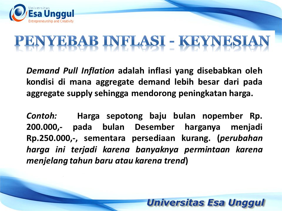 PENYEBAB INFLASI - keynesian