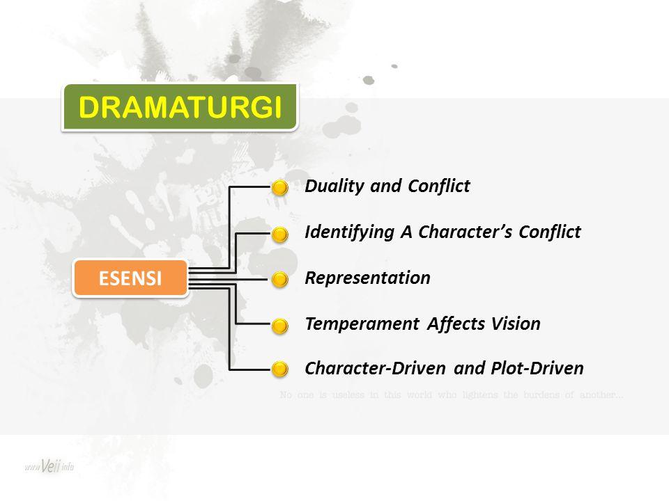 DRAMATURGI ESENSI Duality and Conflict