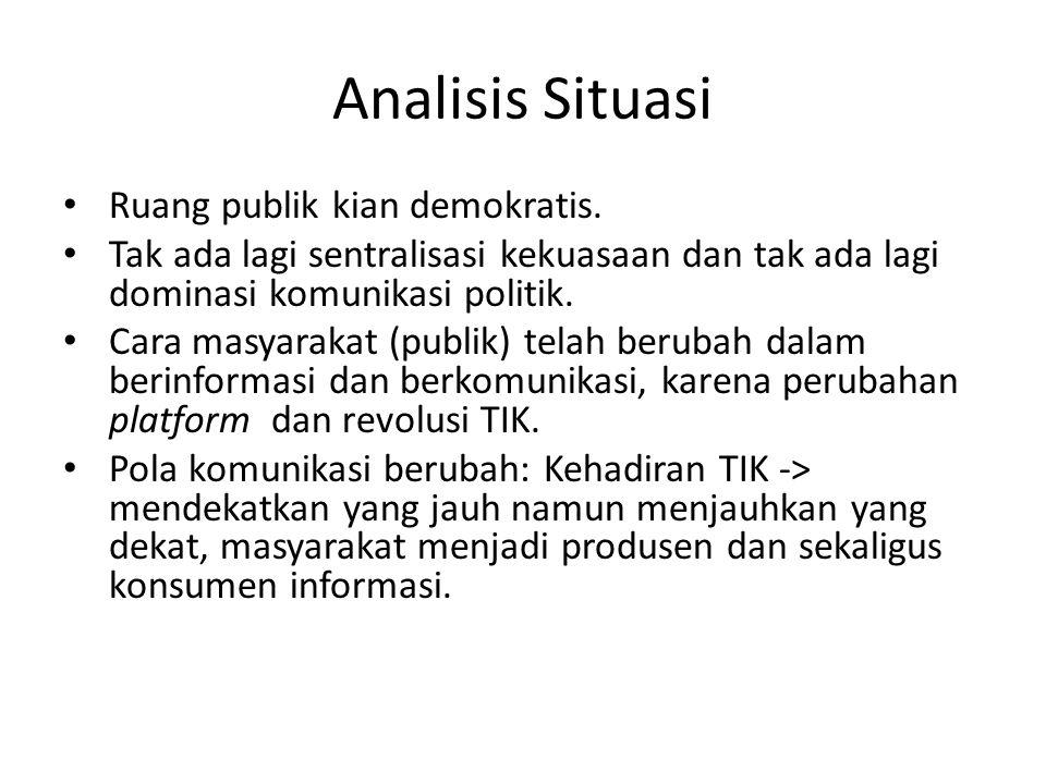 Analisis Situasi Ruang publik kian demokratis.