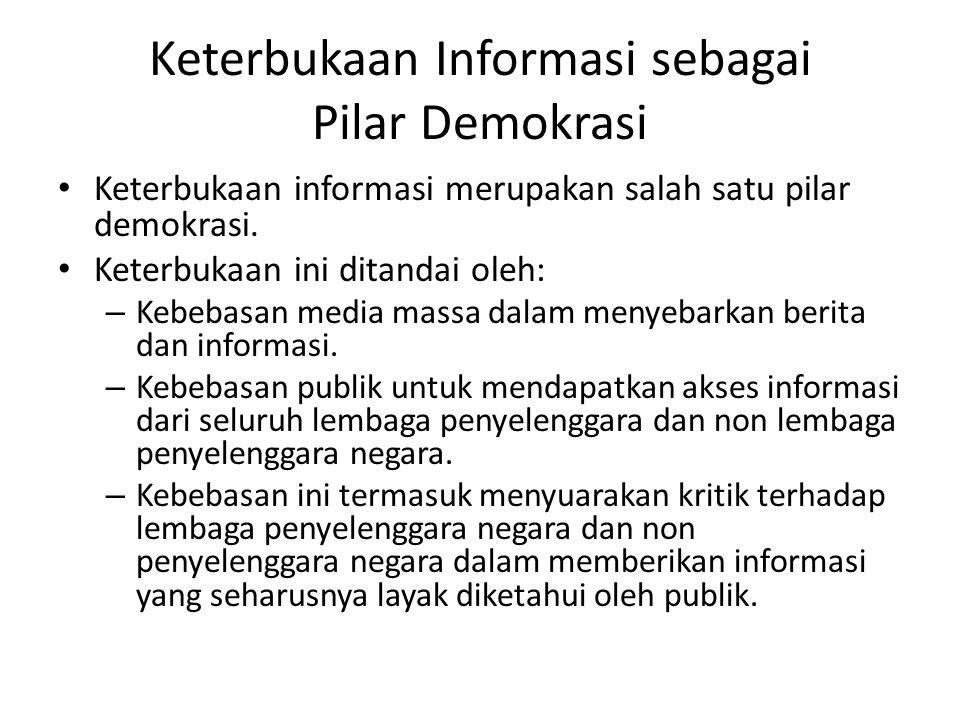 Keterbukaan Informasi sebagai Pilar Demokrasi