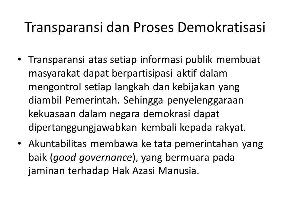 Transparansi dan Proses Demokratisasi