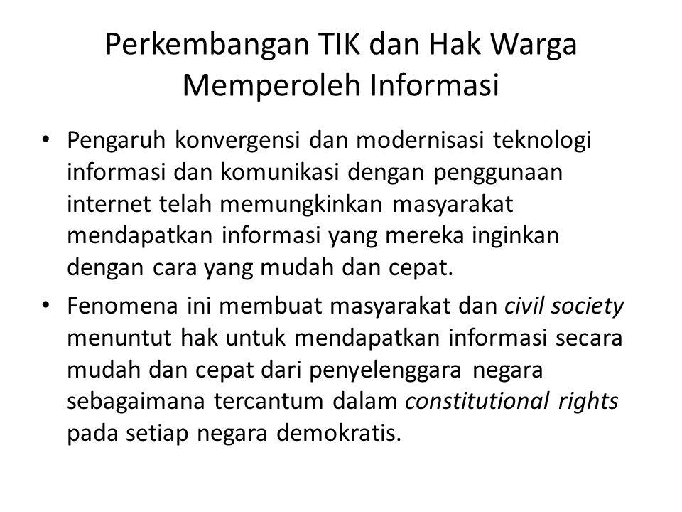 Perkembangan TIK dan Hak Warga Memperoleh Informasi