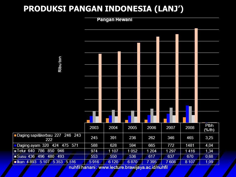 PRODUKSI PANGAN INDONESIA (LANJ')