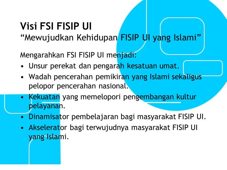 Visi FSI FISIP UI Mewujudkan Kehidupan FISIP UI yang Islami