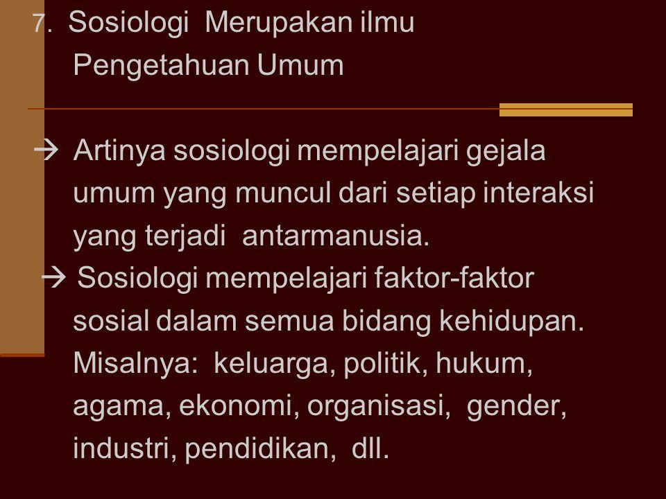  Artinya sosiologi mempelajari gejala