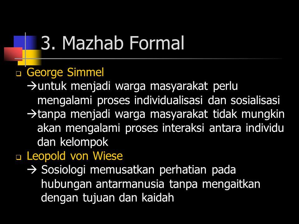 3. Mazhab Formal George Simmel untuk menjadi warga masyarakat perlu