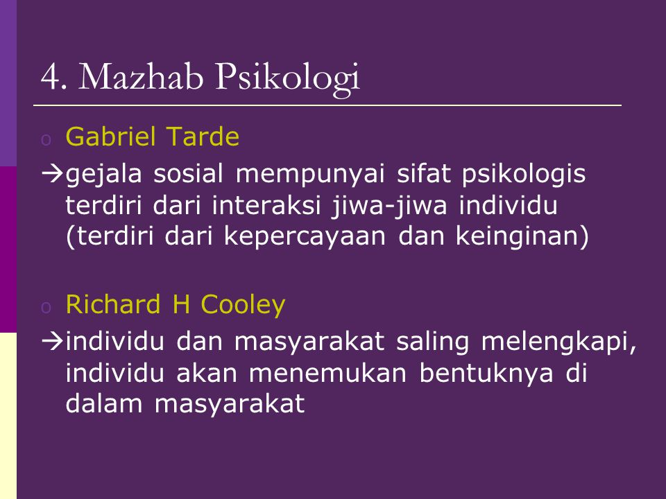 4. Mazhab Psikologi Gabriel Tarde