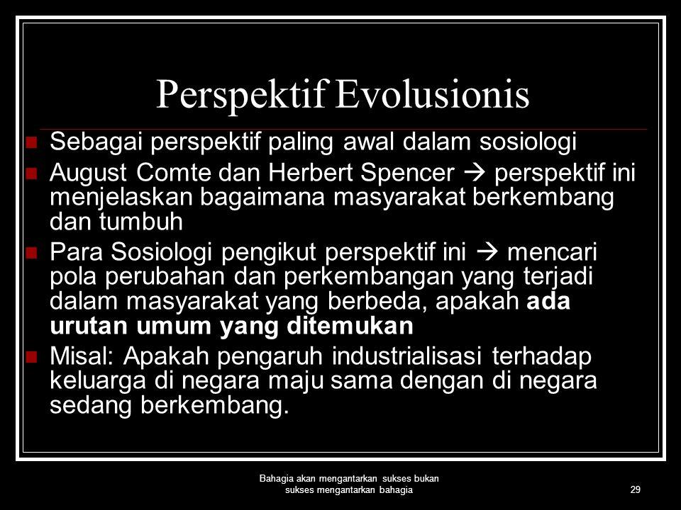 Perspektif Evolusionis