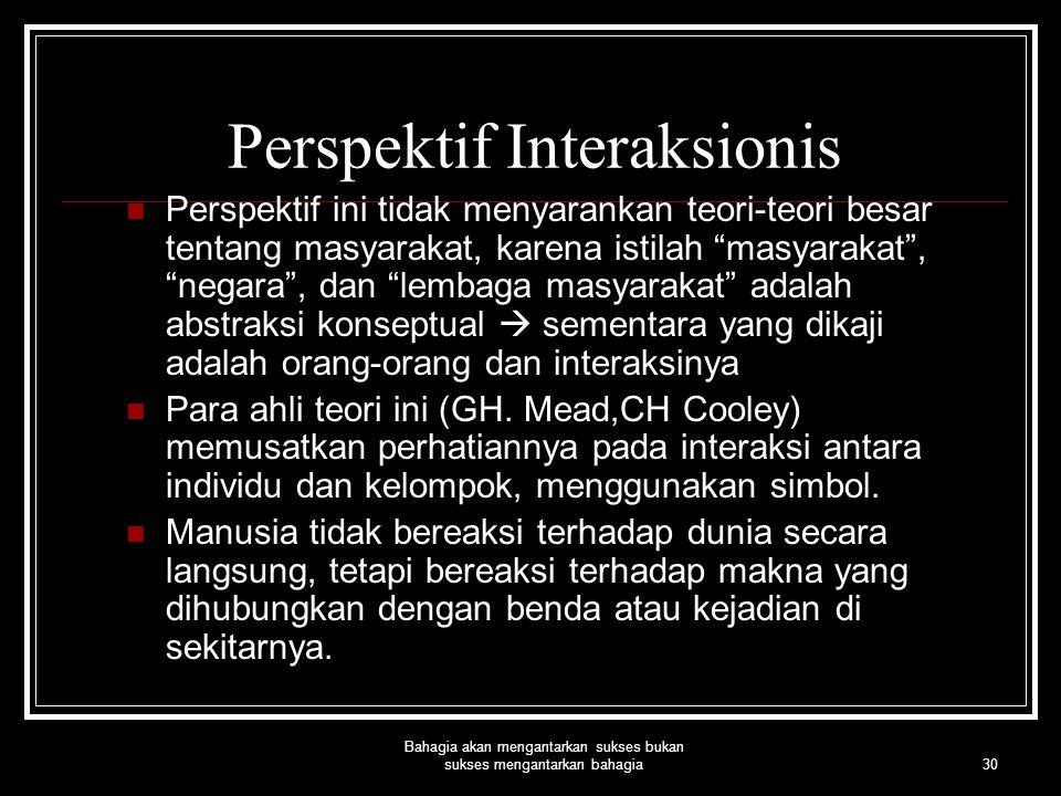 Perspektif Interaksionis