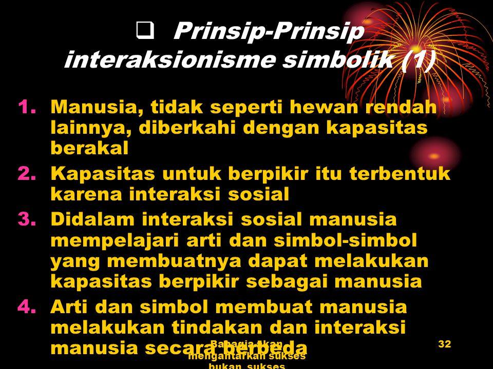 Prinsip-Prinsip interaksionisme simbolik (1)