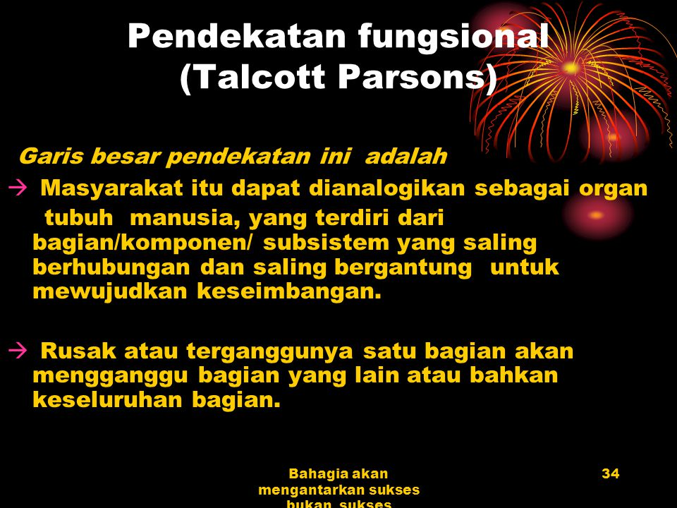 Pendekatan fungsional (Talcott Parsons)