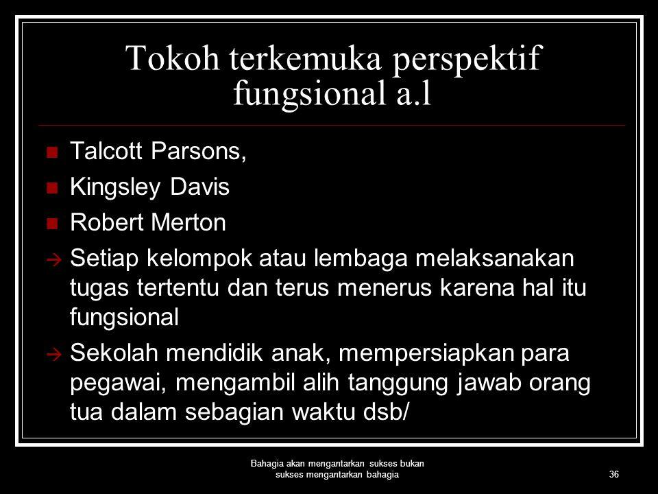 Tokoh terkemuka perspektif fungsional a.l
